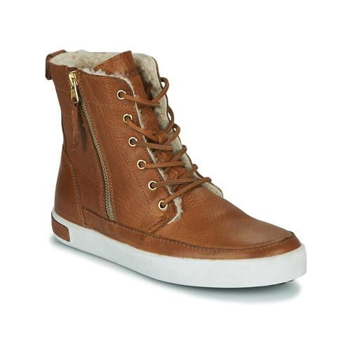 Shoes Women Hi top trainers Blackstone CW96 Brown