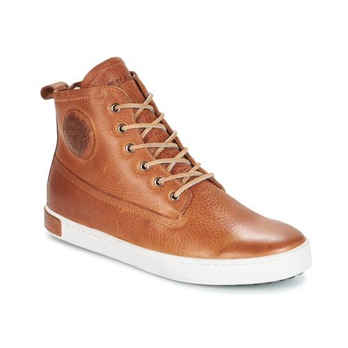 Shoes Men Hi top trainers Blackstone GM06 Brown