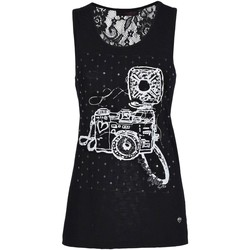 Clothing Women Tops / Sleeveless T-shirts Café Noir JT073 Canotta Women Nero