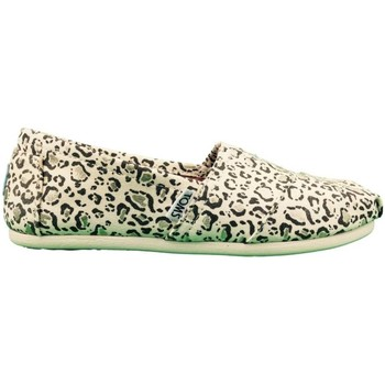 Shoes Women Espadrilles Toms W.S.Class Bobcat with Gold Foi BEIGE
