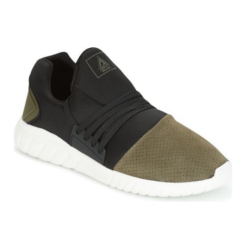 Shoes Men Low top trainers Asfvlt AREA LOW Black / Kaki