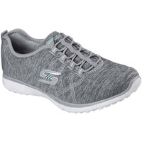 Shoes Women Low top trainers Skechers Microburst On The Edge Womens Sports Trainers grey