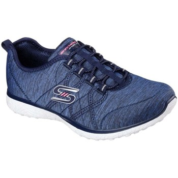 Shoes Women Low top trainers Skechers Microburst On The Edge Womens Sports Trainers blue