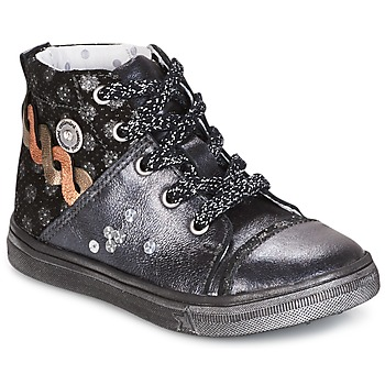 Shoes Girl Mid boots Catimini ROUSSEROLLE Grey / Silver