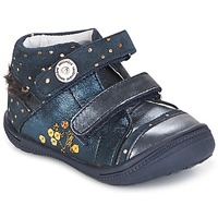 Shoes Girl Mid boots Catimini ROSSIGNOL Vtc / Navy spots / Gold