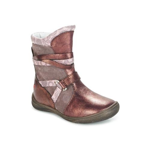 Shoes Girl Mid boots GBB ROSANA Pink / Bordeaux