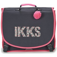 Bags Girl Satchels Ikks ROCK CARTABLE 41CM Black / Pink