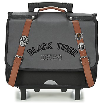 Bags Boy Rucksacks / Trolley bags Ikks BLACK TIGER CARTABLE TROLLEY 38CM Grey / Black