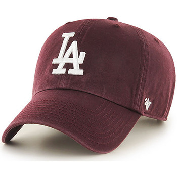Clothes accessories Men Caps 47 Brand MLB Los Angeles Dodgers Clean Up Cap - Dark Maroon Brown