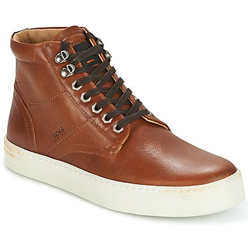 Shoes Men Hi top trainers Hugo Boss Orange NOIR HALB LTWS COGNAC