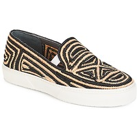 Shoes Women Slip-ons Robert Clergerie  Black / Beige