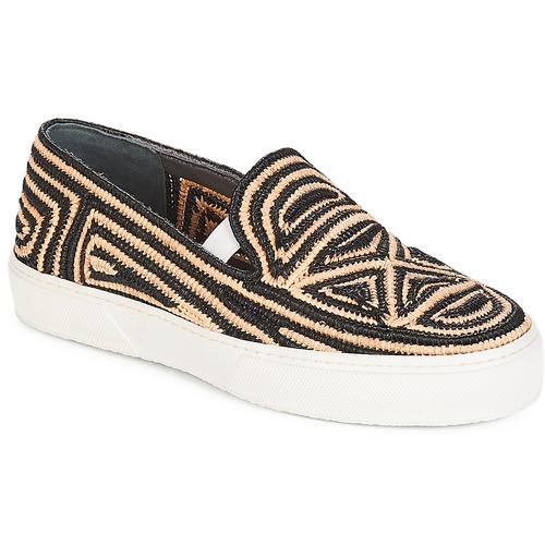 Shoes Women Slip-ons Robert Clergerie  Black / Beige