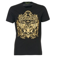 Clothing Men short-sleeved t-shirts Versace Jeans B3GQB7T2 Black / GOLD