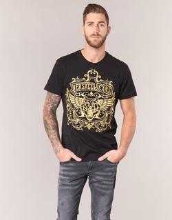 Clothing Men short-sleeved t-shirts Versace Jeans B3GQB7T2 Black / Gold