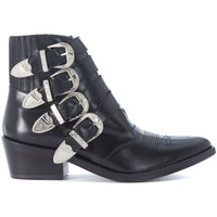 Shoes Women Shoe boots Toga Pulla Texan  in opaque black leather Black