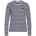 Comme Des Garcons T-shirt Play by Comme de Garcon with white stripes