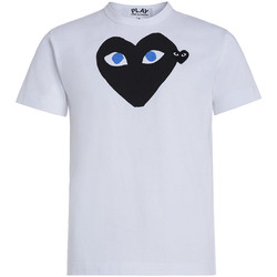 Clothing Men T-shirts & Polo shirts Comme Des Garcons White T-shirt Play by Comme de Garcon with black heart White