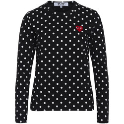 Clothing Women T-shirts & Polo shirts Comme Des Garcons T-shirt Play by Comme de Garcon black and white polka dots Black