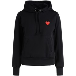 Clothing Women sweaters Comme Des Garcons black fleece with red heart Black