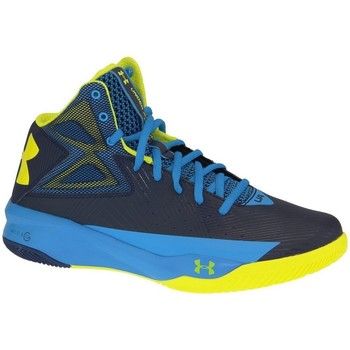 Shoes Men Hi top trainers Under Armour Rocket Basketball Yellow-Blue