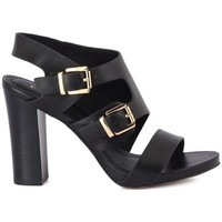 Shoes Women Sandals Café Noir Cafe Noir Sandalo Due Pezzi Black