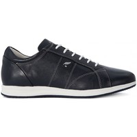 Shoes Women Low top trainers Geox Avery A Nappa Black-White