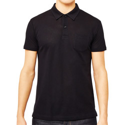 Clothing Men short-sleeved polo shirts Sunspel Short Sleeve Riviera Polo Shirt Black