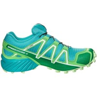 Shoes Low top trainers Salomon Speedcross 4 Gtx W Light blue-Green
