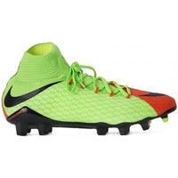 Shoes Men Football shoes Nike Hypervenom Phatal II DF FG Green-Orange