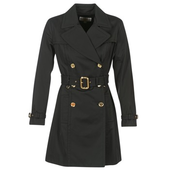 Clothing Women Trench coats MICHAEL Michael Kors PLEATED TRENCH Black