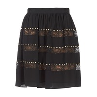 Clothing Women Skirts MICHAEL Michael Kors HT/ LACE MIX Black