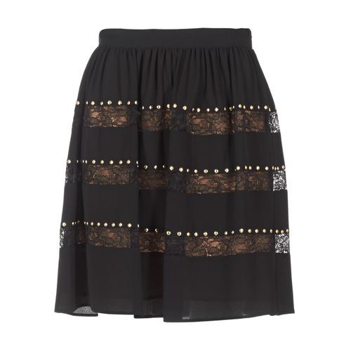 Clothing Women Skirts MICHAEL Michael Kors HT/ LACE MIX Black