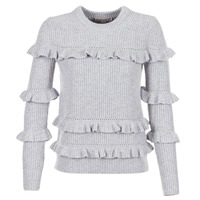 Clothing Women Jumpers MICHAEL Michael Kors RIB RUFFLE Grey
