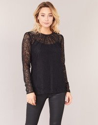 Clothing Women Tops / Blouses MICHAEL Michael Kors STRECH LACE T-S Black