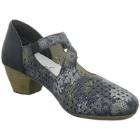 Shoes Women Heels Rieker Riemchen Blue