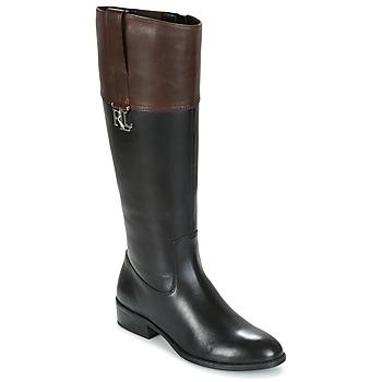 Shoes Women High boots Ralph Lauren MERRIE Black / Brown