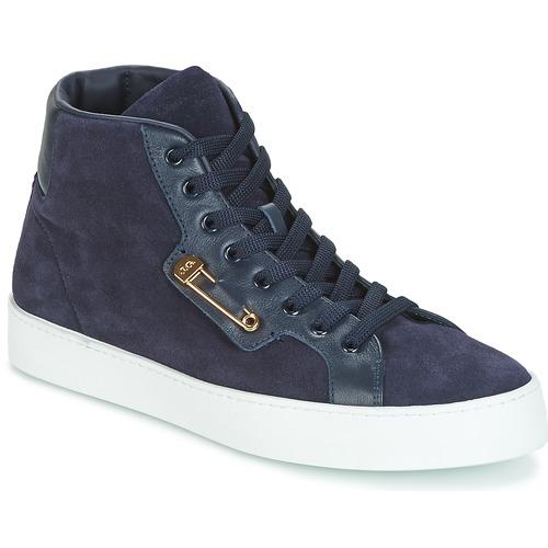 Shoes Men Hi top trainers John Galliano FAROM Marine