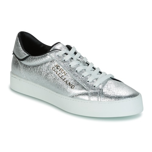 Shoes Men Low top trainers John Galliano FIUR Silver
