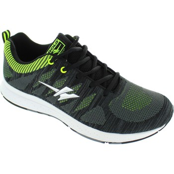 Shoes Men Low top trainers Gola zenith men's /Volt/ knitted active flexible running trainers ne Black/Volt/Black