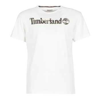 Clothing Men short-sleeved t-shirts Timberland DUNSTAN RIVER CAMO PRINT White