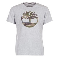 Clothing Men short-sleeved t-shirts Timberland DUNSTAN RIVER CAMO PRINT Grey