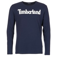 Clothing Men Long sleeved tee-shirts Timberland LINEAR LOGO PRINT RINGER MARINE