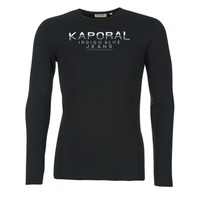 Clothing Men Long sleeved tee-shirts Kaporal PONIO Black