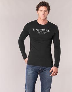 Clothing Men Long sleeved tee-shirts Kaporal PONIO Black