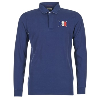Clothing Men long-sleeved polo shirts Serge Blanco POCHON Marine