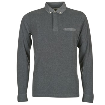 Clothing Men Long-sleeved polo shirts Serge Blanco POCHA Black / Grey
