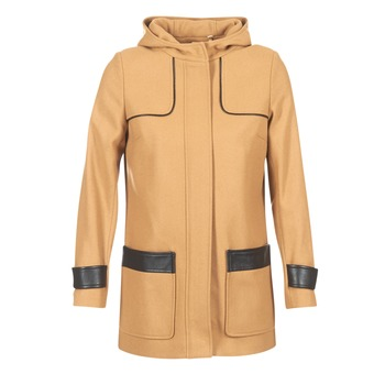 Clothing Women Coats Naf Naf AHOULA Beige
