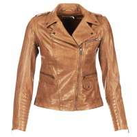Clothing Women Leather jackets / Imitation leather Naf Naf CUBA Brown