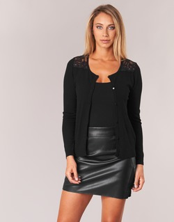 Clothing Women Jackets / Cardigans Naf Naf MOBRANDY Black