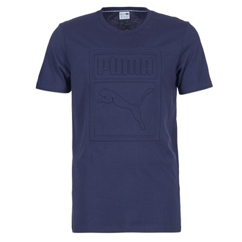 Clothing Men short-sleeved t-shirts Puma ARCHIVE EMBOSSED LOGO TEE MARINE